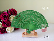 300PCS  Chinese sandalwood fans Promotional hand fans Fancy wedding favors 8 inches  available