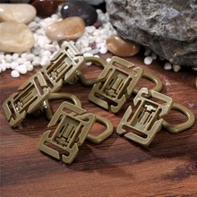 10Pcs Plastic 360 Rotation D Ring Buckles Molle Webbing Strap Locking Carabiner Backpack Clips Outdoor EDC Tools Camping Hiking(China)
