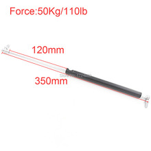 120mm*350mm Auto Gas Springs for Car 50KG/110lb Force 120mm Stroke Gas Spring for Furniture Gas Strut  Lift Prop Door