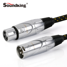 Soundking XLR Cable male to female Microphone Speaker Cable 3/5/10M(China)