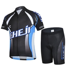 2016 CHEJI Children Bike Jersey or Cycling Shorts Pro Cycling Clothing Black Kids Bicycle Shorts Boys mtb Shirts Cyc Top