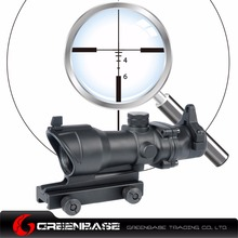 Greenbase Tactical 4x32 ACOG TA01NSN Type CrossHair Rifle Scope Red Fiber For m4 Hunting Scopes Optics Mount Tan
