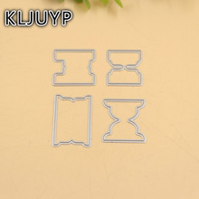 4pcs Planner labels metal die cuts metal cutting dies scrapbooking suit for sizzix fustella big shot cutting machine