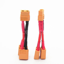 100 Pcs/Lot wholesale XT60 Parallel Battery Connectors Cable Extension Y Splitter 12 Awg Silicone Wire 10cm ZD0190(China)