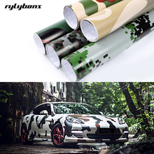 Rylybons Car Stling 10*15cm Camouflage car body Wrap Film Camo Army Green car-stylings stickers and Decals PVC Vinyl Car Sticker