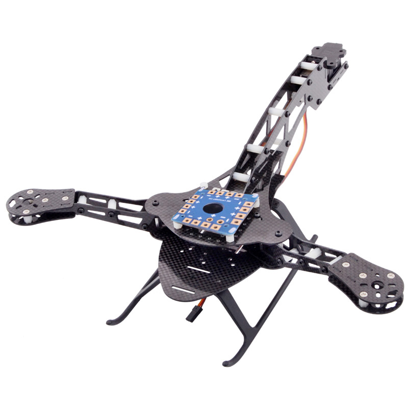 High Quality HJ-Y3 Carbon Fiber Tricopter Three-axis Multicopter Frame Compatible with MWC KK Rabbit Pirate Flight Controller<br>