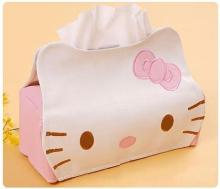Length 23CMPU Hello KITTY Winnie the Pooh Cute Home Car Tissue Case Box Container Towel Napkin Papers BAG Holder BOX Case Pouch(China)