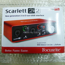 2018 New FOCUSRITE Scarlett 2i2 (2nd gen) 2 in / 2 out USB 2.0 Guitar recording audio interface USB2.0 sound card free shipping(China)