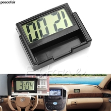 peacefair Interior Car Auto Dashboard Desk Digital Clock LCD Screen Self-Adhesive Bracket(China)