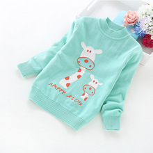 2016 New winter children's clothing boys and girls cotton cartoon sweaters 2-6 years baby sweater 8517