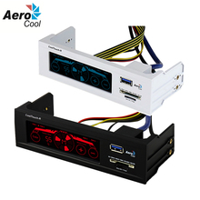 Aerocool CoolTouch-R PC Fan Speed Controller With LCD Display/USB 3.0/Card Reader Control Panel Computer Fan Controller