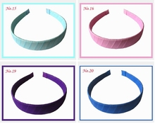 50pcs girl wide:2cm head bands Basic hair clasp grosgrain ribbon Covered Plastic winding hair band hair Accessories FJ3104(China)