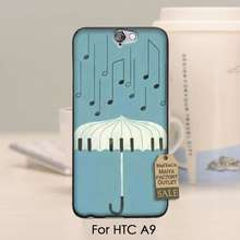 Unique Design Newest The Fashion phone Case For HTC One A9 case  Love music note piano umbrella