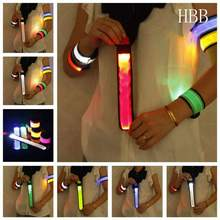 HBB LED Flashing Wrist belt Sports Running Safety Reflective Strap Arm Band Armband Night Run Special  High Quality
