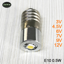 Best price 0.5w E10 3v 3.7v(3.7-4.2v) 4.5v 6v 7v 9v 12v LED flashlight torch bulbs  led flashlight bulb light Head lamp bulb