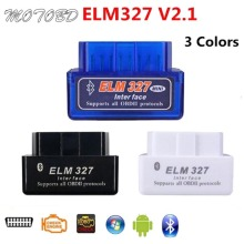 ELM327 V2.1 OBD2 Do Bluetooth OBD Code Reader CAN-BUS Suporta Multi-Carros Da Marca Multi-Língua ELM 327 BT V2.1 Funciona Android/PC(China)