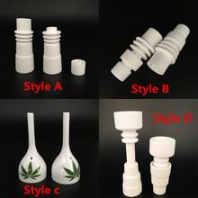 Wholesale Domeless Ceramic Nail Enail Fit for 16mm 20mm Heater Coil Enail Dab Use with Carb Cap(China)