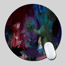 Alice In Wonderland Cartoon 2016 Round Gaming Mouse Mats Mice Pad for Size 200*200*2mm