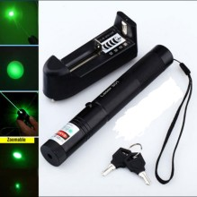 high power green laser pointers 301 532nm GREEN LASER 5000MW adjustable focus burn match + key + changer + box + FREE SHIPPING