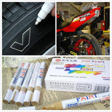 5pcs/lot White Car Motorcycle Tyre Tire Tread Rubber Paint Marker Pen Whatproof Permanent Free Shipping(China)