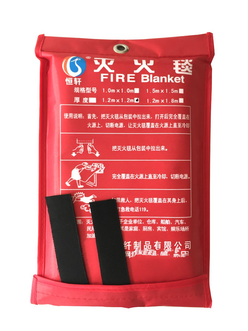 1.2x1.2M glass fiber fire blanket double fireproof life saving home fire protection products<br>