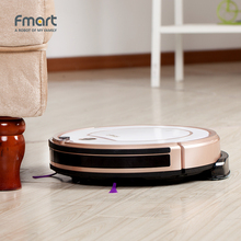 Fmart Mini Robot Vacuum Cleaner Battery Dry&Wet Mopping For Home Appliances 3 in 1 Vacuums For Wood Floor Color Champagne ZJ-C1(China)