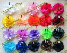 "Free Shipping 50pcs Wholesale Korea Colorful  girl Lady 3"" Rose headdress  flowers corsage 20colors hair accessory"