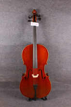 4/4 Acoustic Cello Hand Cared Fine Tone Nice Varnish + cello  bow  bag 606#
