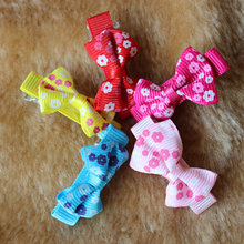 10pcs Lovely Pets Hair Bow Mixed Color Headdress Puppy Cat Teddy Hairpin