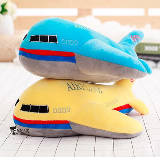 60cm Simulation plane plush toy childrens aircraft large pillow child appease doll birthday gift<br>