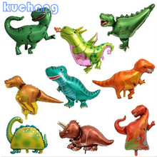 Foil Balloon Jurassic-Decorations Dinosaur Birthday-Party Mini Boys Childrens 10pcs Toy
