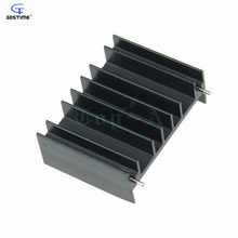 Gdstime 10pcs Aluminium Heatsink W/ Pins For Motherboard MOS Tube Cooling Heat sink Cooler 35x47x17mm Black(China)