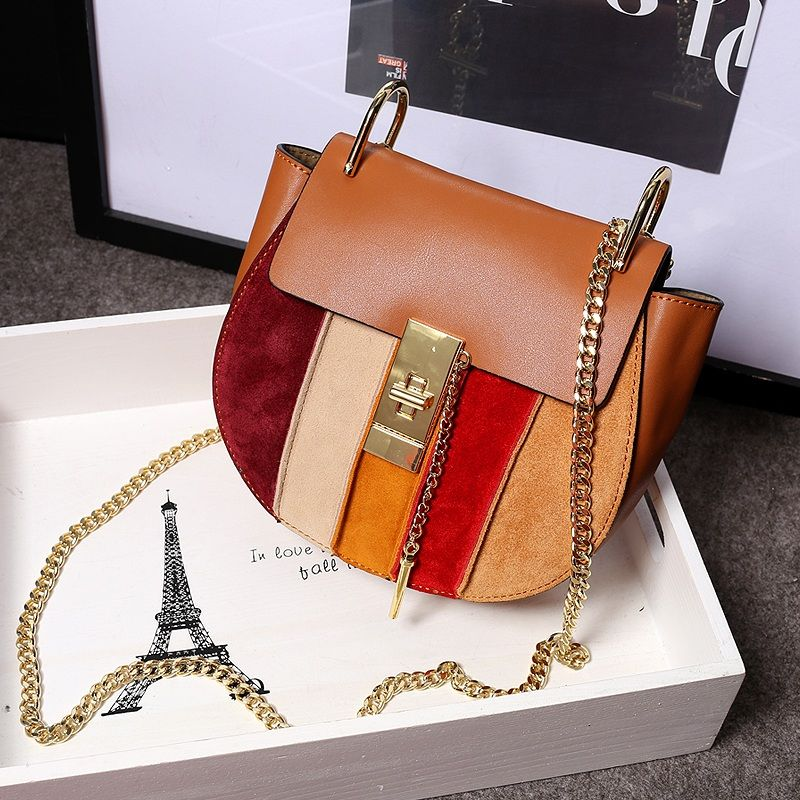 2016 Hot Summer Flap Pocket Single Cover Flap Women New Head Layer Leather Color Bag Pig Handbag Chain Shoulder Messenger Small<br><br>Aliexpress