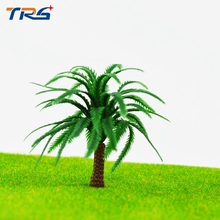 Miniature Plastic Model Palm Tree 5CM Architectural model train Layout Model Coconut Palm Trees Forest Scale(China)