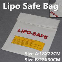 Fireproof LiPo Safety 18x22cm 23x30cm Fiber Lipo Safe Bag Lipo Guard Bag White