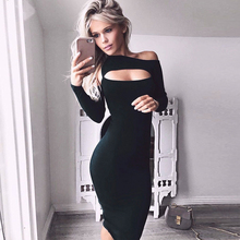 Buy 2017 autumn Sexy Womens Black Bodycon Dress plus size women clothing Hollow womens sexy dresses party night club dress for $13.87 in AliExpress store