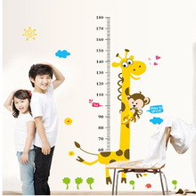 Cartoon Animals Children Height Measure Wall Stickers for Kids Room Wall Decals Wall Sticker Home Decoration Accessories Poster