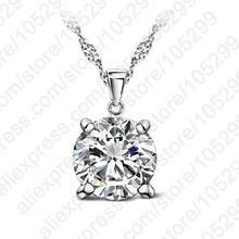 PATICO CZ Crystal Chain Necklaces 925 Sterling Silver Pendant Necklace Fashion Brand Crystal Party Wedding Jewelry For Women