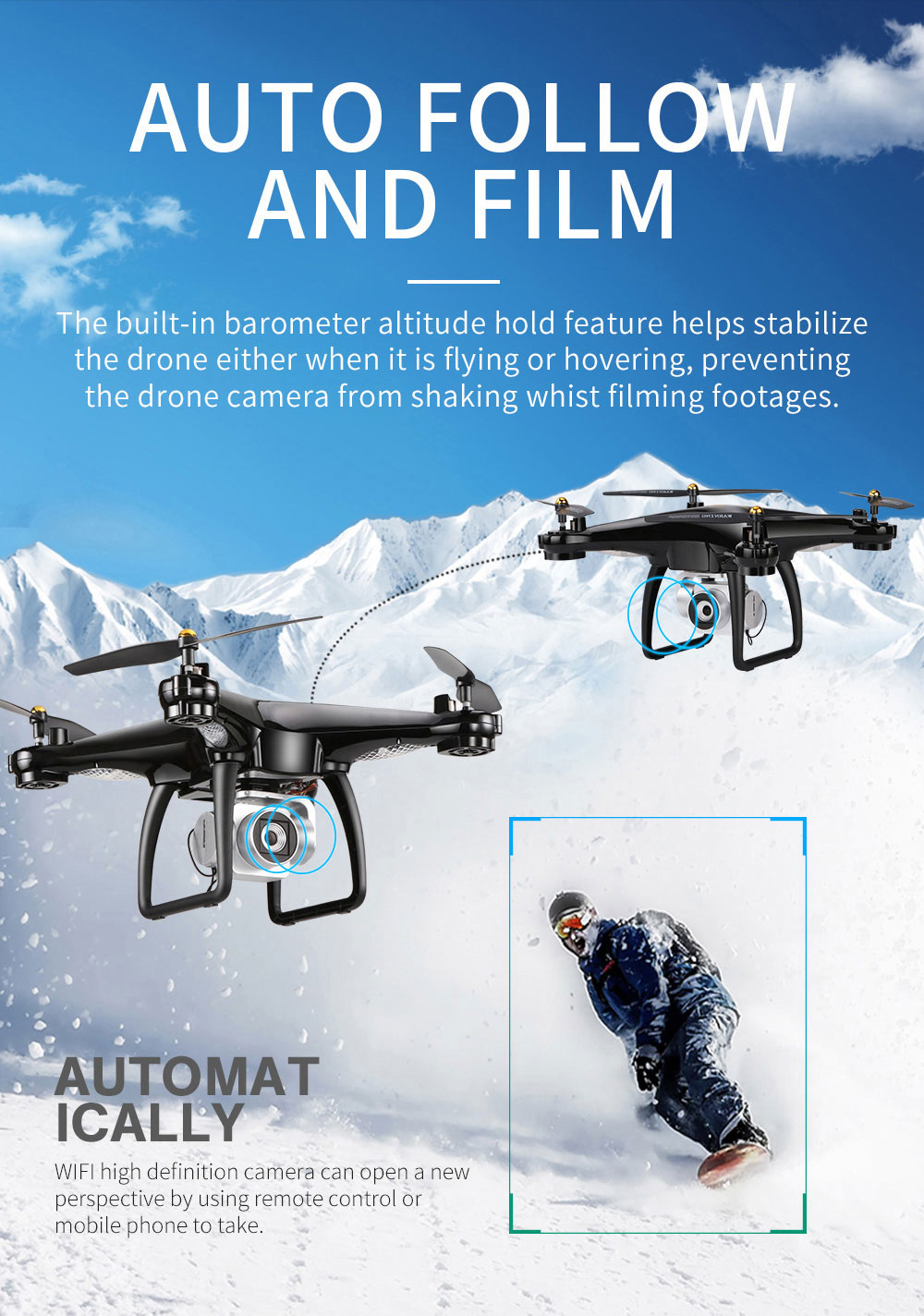 JJRC H68G GPS Drone With Camera 1080P HD 5G Wifi FPV Quadrocopter RC Helicopter Professional Dron Compass Auto Follow Quadcopter 10