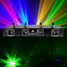(Ship from US) 4 Lens 4 Beams RGYB 760mW DMX Red Green Yellow Blue DJ Disco Stage Professional Laser Light Party Light(China)