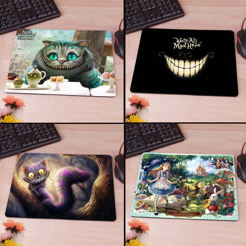 Alice in Vonderland, Cheshire  Computer Mouse Pad Mousepads Radiation  Non-Skid Rubber Pad<br><br>Aliexpress