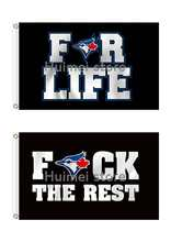 Toronto Blue Jays Flag life and the rest banner 3X5FT 90x150cm Sport Outdoor Banner Custom flag(China)