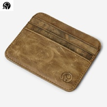 Vintage Genuine Leather Credit Cards Holder Men Card Wallet Thin Slim Cash Pocket Casual Bank Business ID Cards Case Cheap New(China)