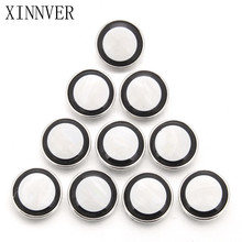 10pcs/lot Black White Color DIY Round 12mm 18mm Snap Button With Alloy Bottom for Resin Snaps Bracelets fit Snap Jewelry