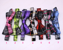 10pcs Pet Puppy Dog Cat Large Bowties Adjustable Mixed Plaid Styles 2 Layers Men Women Bow ties Neckties Pet Suppliers