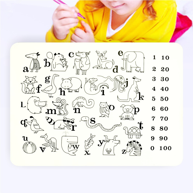 Kid Reusable Coloring Mat Silicone Placemat Eeasy Cleaning()