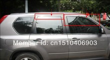 For Nissan X-Trail 2008 2009 2010 2011 2012 2013 Stainless steel Upper Window frame sill trim 4pcs Car decoration