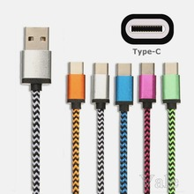 1M/3FT Fabric Braided Type-C 3.1 Type C USB Data Sync Charge Cable For Nokia N1 For Macbook OnePlus 2 ZUK Z1 xiaomi 4c MX5 Pro G