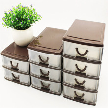 Drawer Type Plastic Office Table Desktop Debris Cosmetic  Holder Storage Box E2S