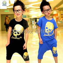 2015 item boy skull suit cool clothing set three colors(China)